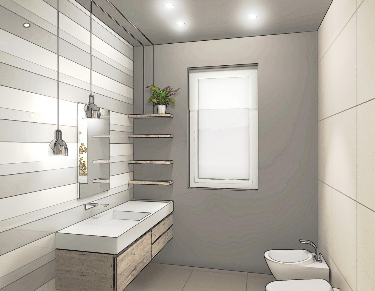 Creare lavanderia in bagno design casa creativa e mobili for Come progettare mobili
